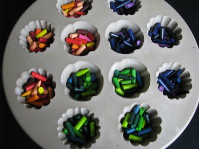 Recycled Crayon Party Favors