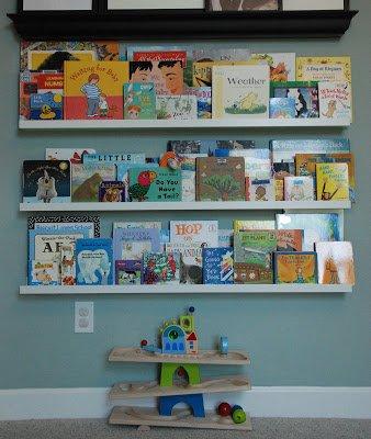 IKEA books shelves for playroom
