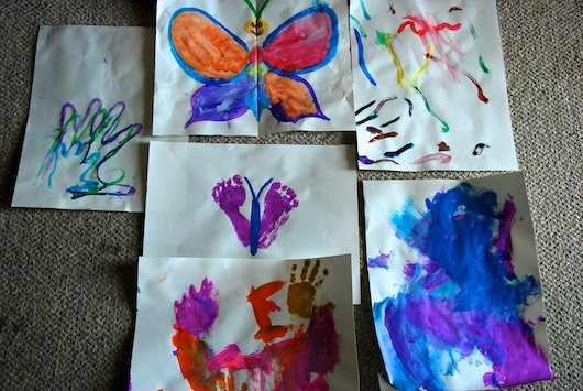 Organizing Children's Artwork