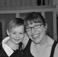 Sarah MacLaughlin and her son Josh bw