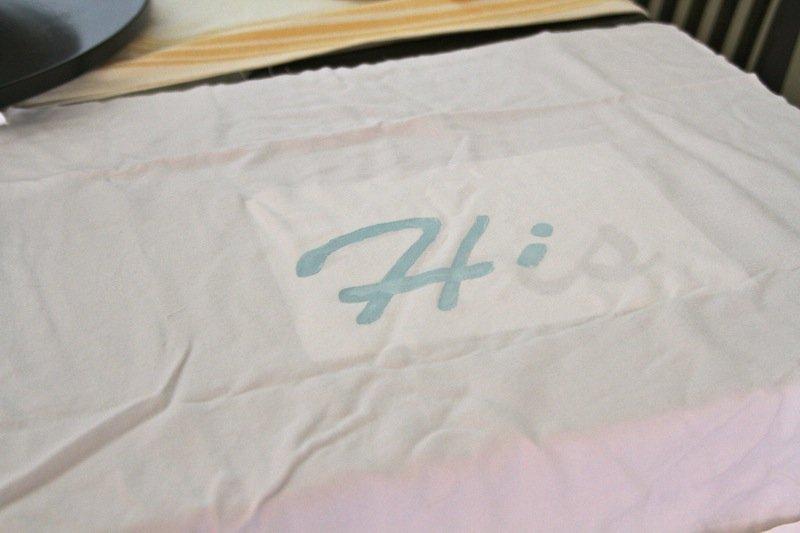 DIY Stencil Monogram Pillows