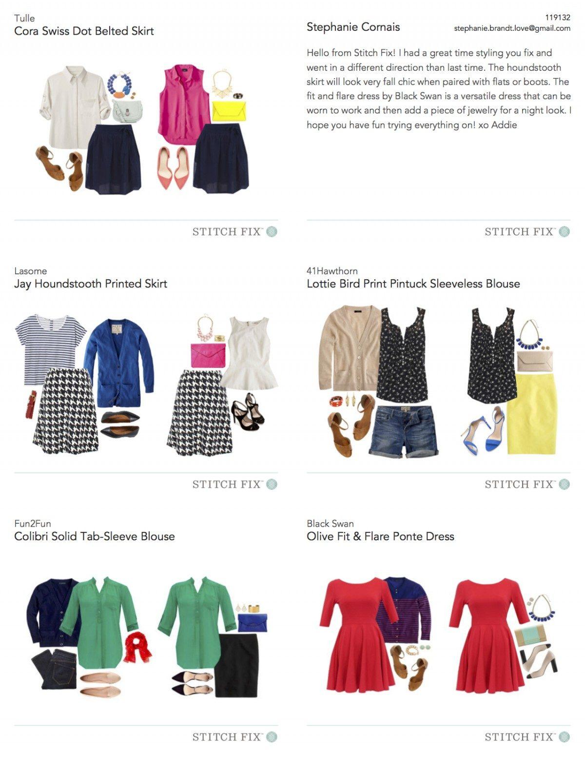 Stylecards for shipment 119132