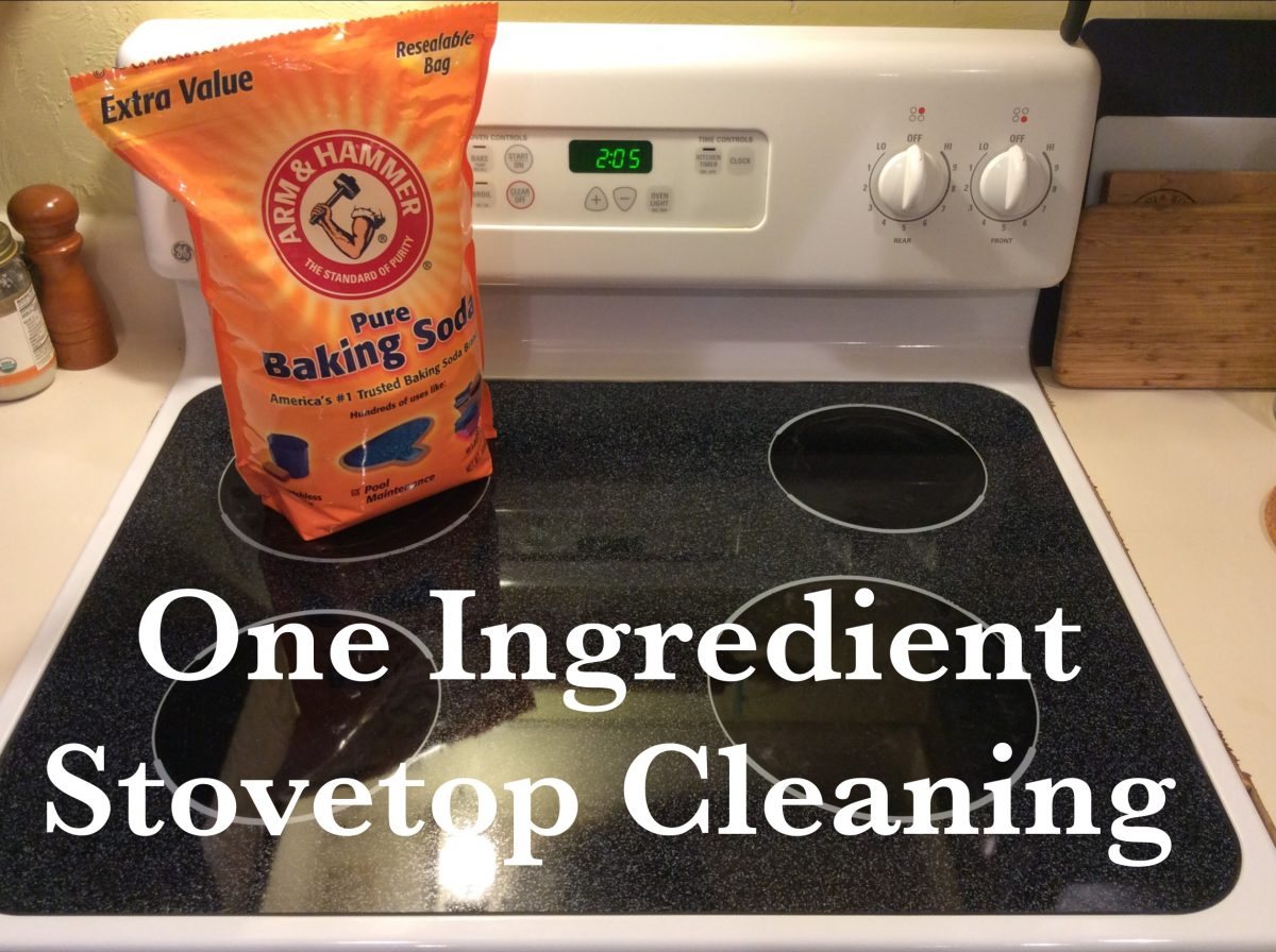 One Ingredient Stovetop Cleaning