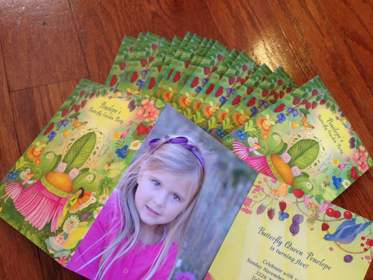 butterfly garden party invites pear tree greetings