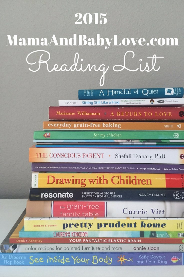 Reading list for mamas who love self-help, eating healthy, making art and conscious parenting.