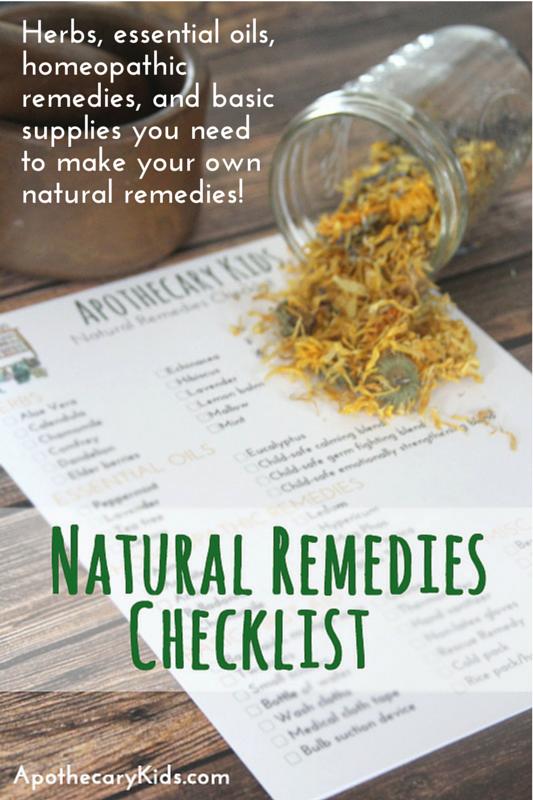 Natural Remedies Checklist