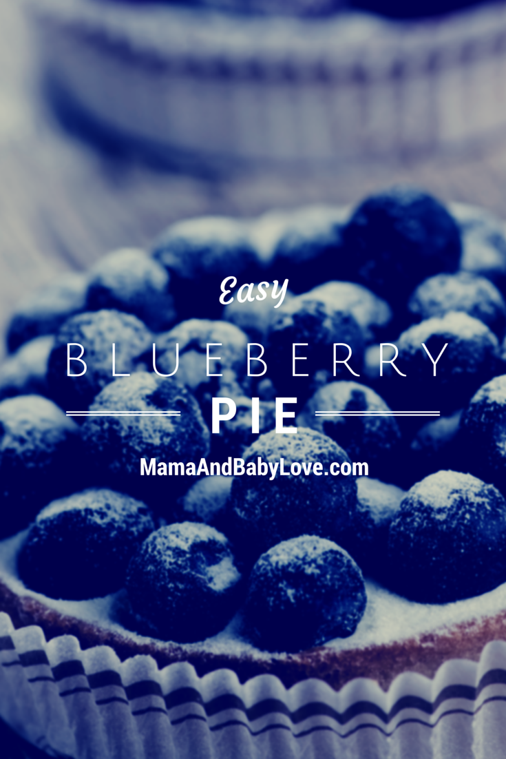 super easy blueberry pie recipe, over 100 years old!