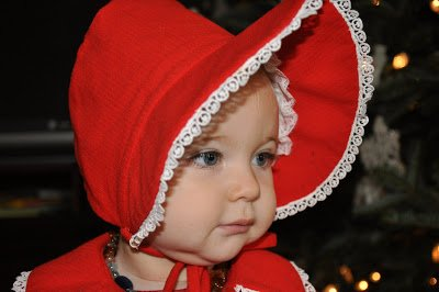 Handmade Christmas Coat and Bonnet