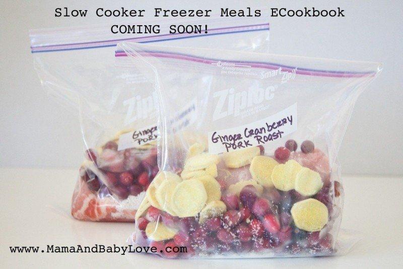 Ginger Cranberry Pork Roast Slow Cooker Freezer Recipe