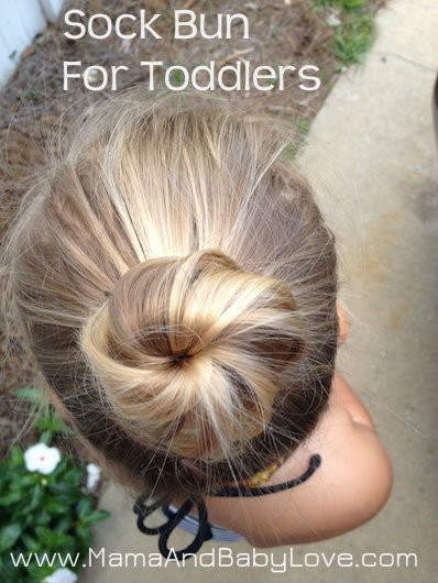 Sock Bun for Toddlers