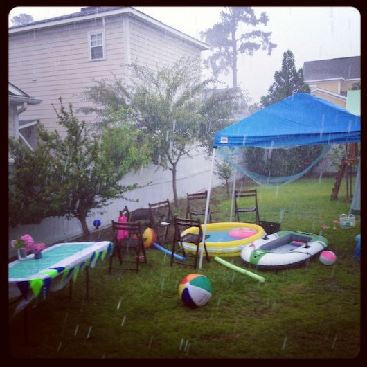 And Not 30 Minutes Into The Party It Dumped Rain So We All Trampled Inside Was A Wee Bit Nutty But Thankfully Stopped Were Able To