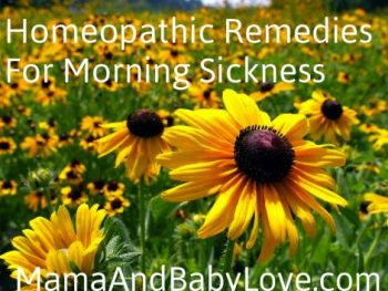 Homeopathy for Morning Sickness
