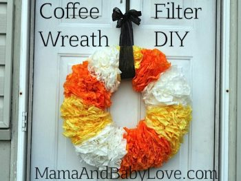 Coffee Filter Halloween Wreath DIY 2