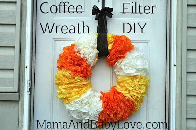 Coffee Filter Halloween Wreath DIY 2