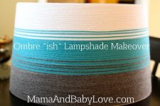 """Ombre """"ish"""" Lampshade Makeover 3"""