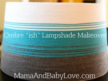 "Ombre ""ish"" Lampshade Makeover 3"
