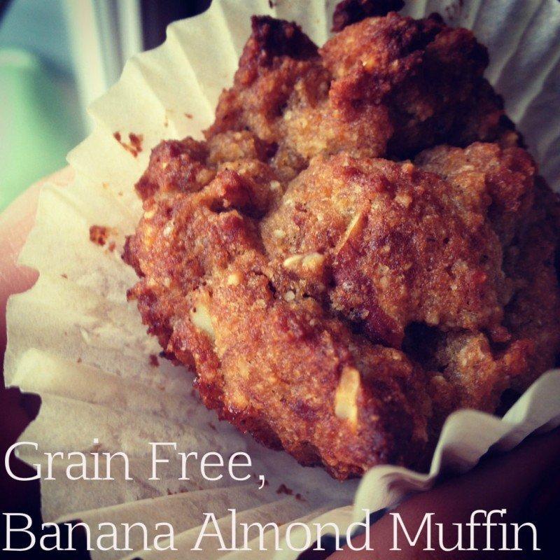 Grain Free, Banana Almond Muffins