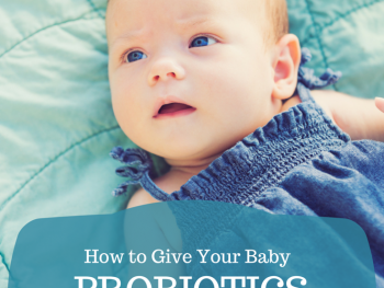 how to give your baby probiotics pinterest image