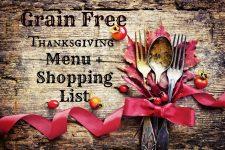 Grain Free Thanksgiving Menu