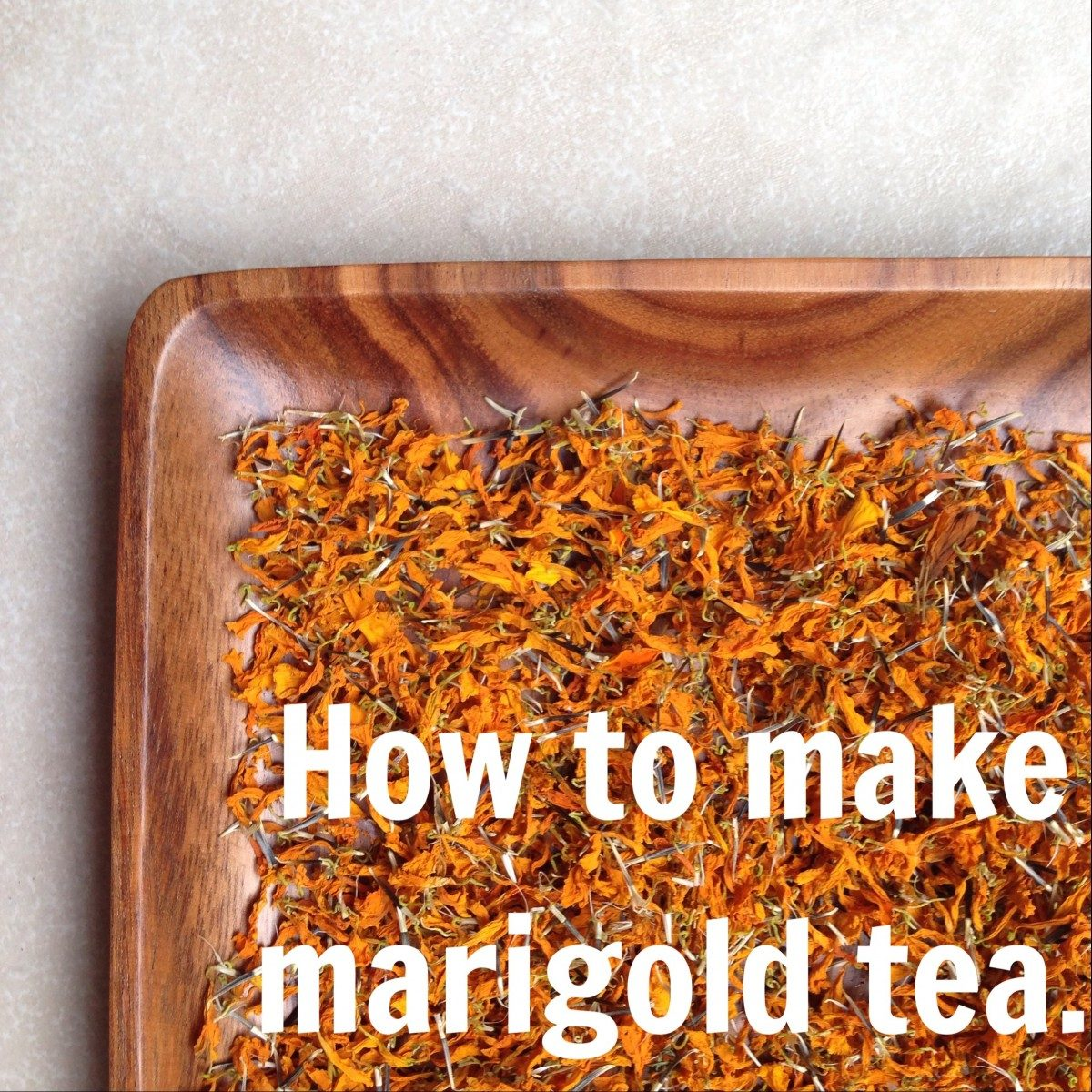 how to make marigold tea