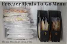 Freezer Meals To-Go Menu