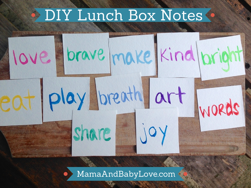 DIY Lunch Box Notes