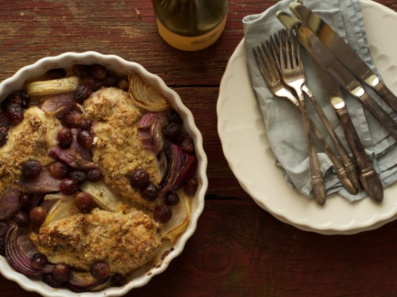 Chicken and Grape Bake Recipe 1