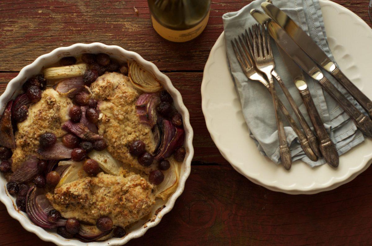 Chicken and Grape Bake Recipe 1