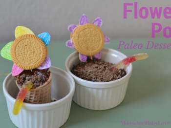 "Flower Pot Dessert {Paleo ""dirt"" chocolate pudding} 4"