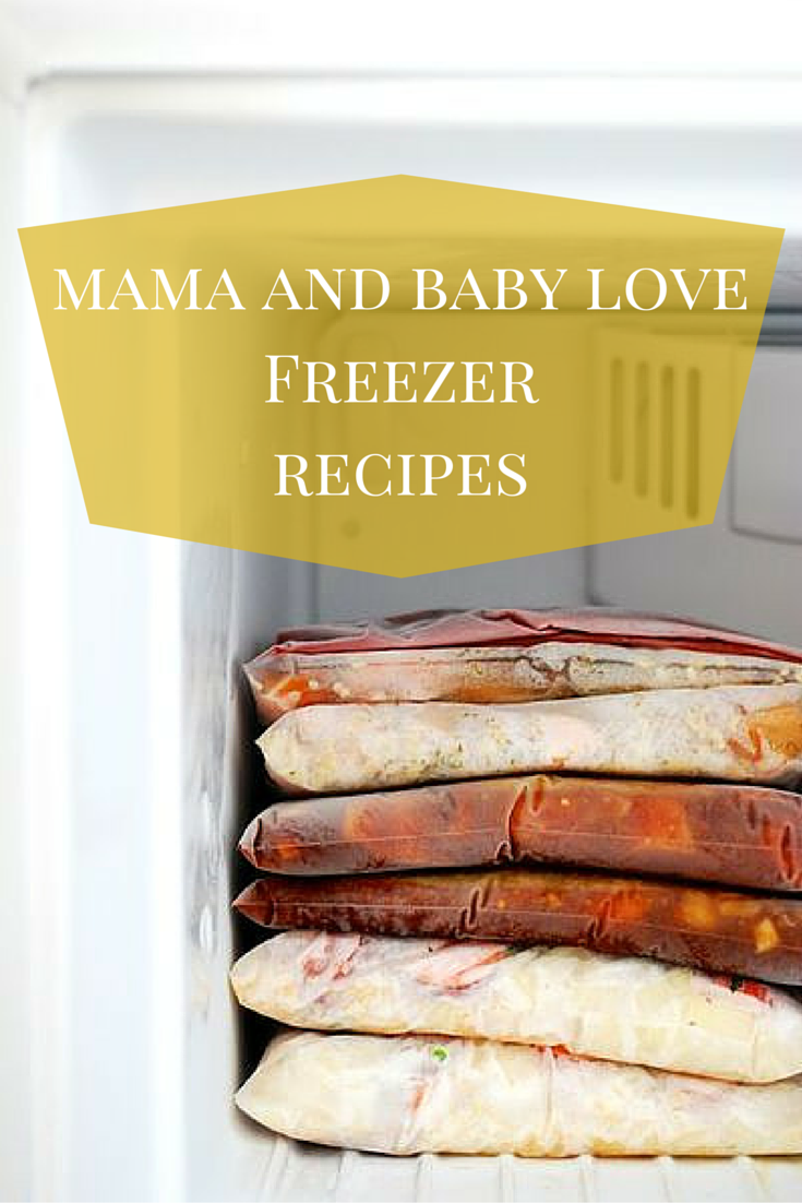 Mama And BAby LoveFreezer recipes pinterest image